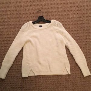 White cotton sweater from GAP